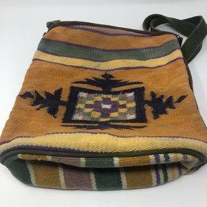 Boho Aztec Indian Canvas Crossbody Purse